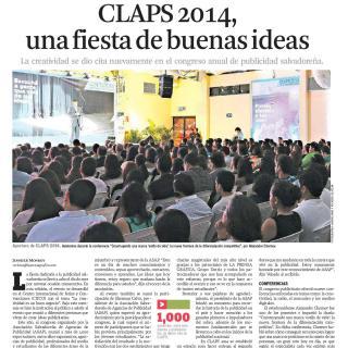 LPG 011114 - CLAPS 2014, una fiesta de buenas ideas 1p