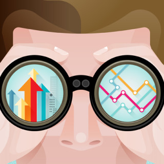 Business vision concept vector